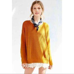 UO x pins & needles | oversized lace tunic sweater